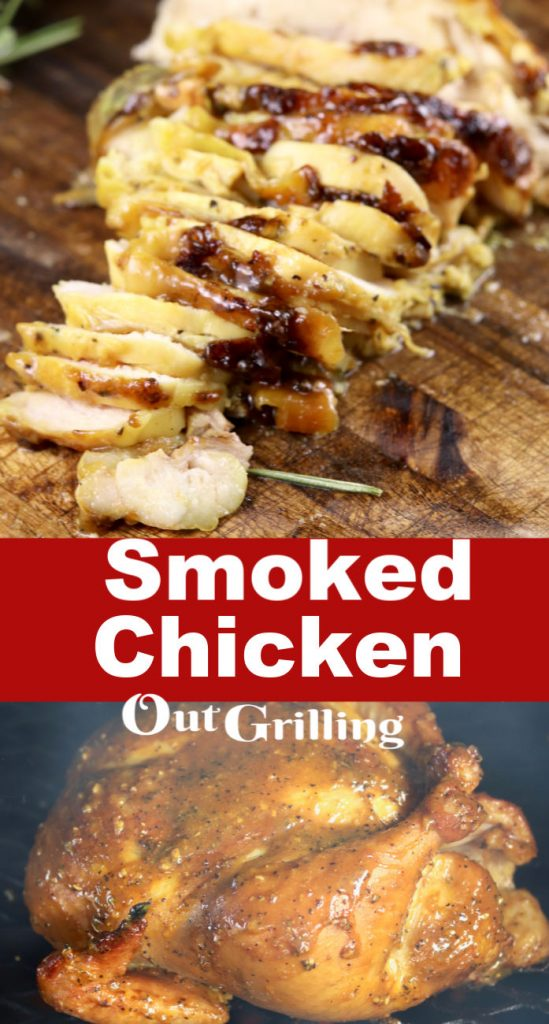 Smoked Chicken Sliced and grilling step by step instructions