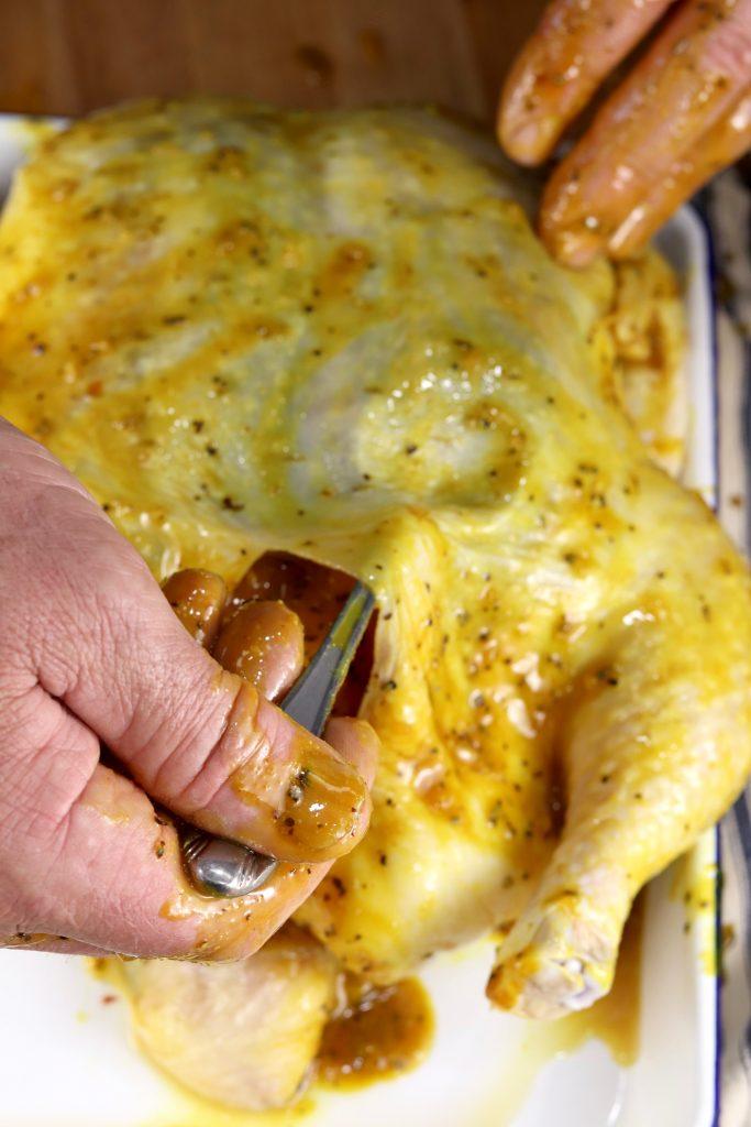 Mustard Barbecue rub for whole chicken