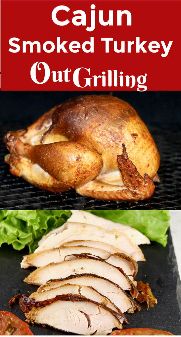 Cajun Smoked Turkey is loaded with flavor. A great addition to any holiday meal or great to make ahead for sandwiches. Easy to make at home and so much tastier than what you will find at the deli.
