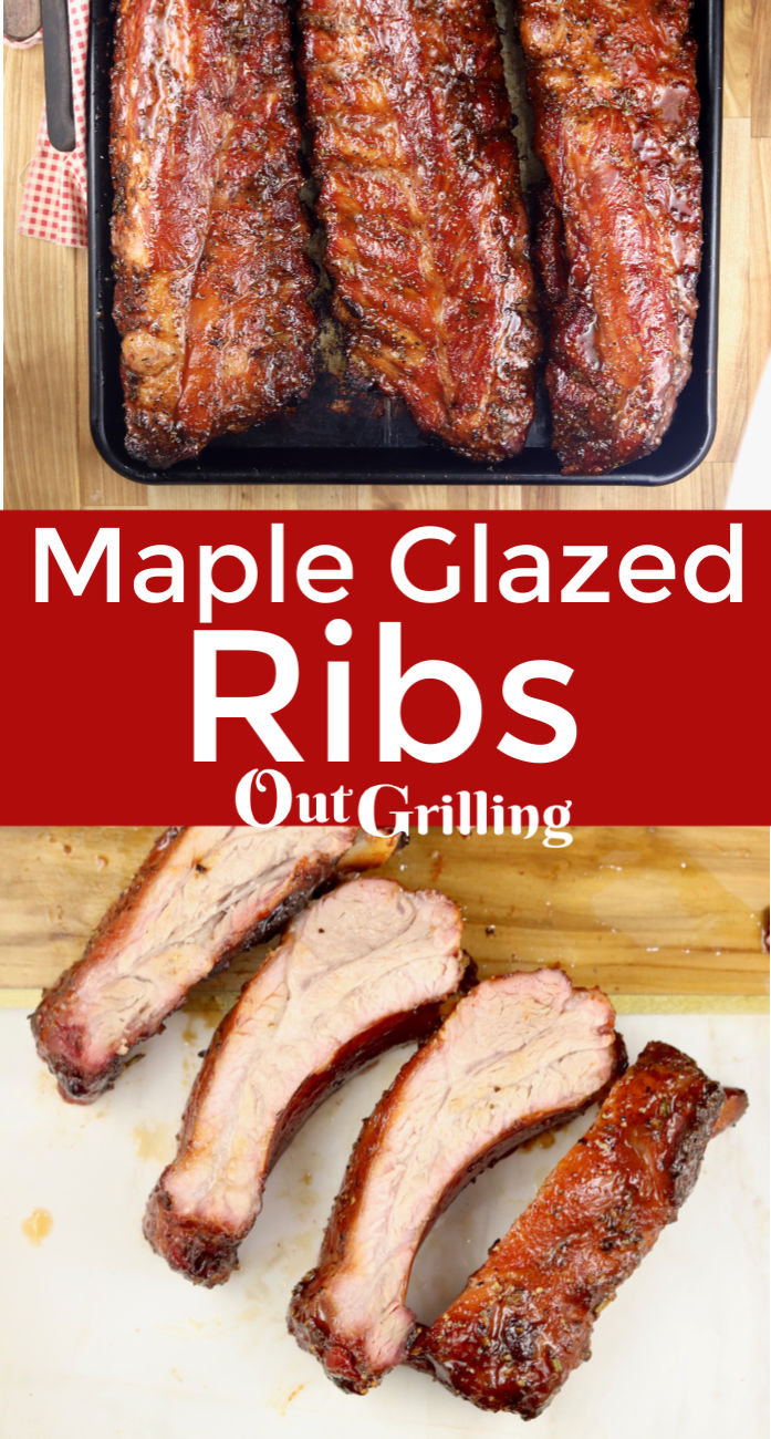 Maple Glazed Ribs are incredibly flavorful and delicious. A great meal to prepare on the grill to feed a hungry crowd.
