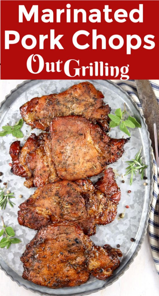 Marinated Pork Chops are flavorful and delicious. Perfect for grilling. Just a few simple pantry ingredients come together for an incredibly tasty dinner for any night of the week.