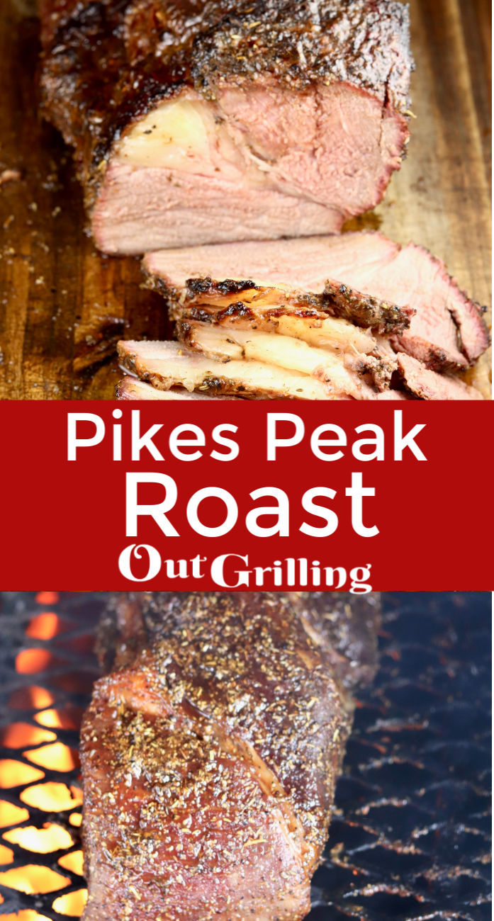 Pikes Peak Roast with a delicious dry rub is grilled with hickory smoke for a tasty main dish. Slice this roast thin for the best roast beef sandwiches to enjoy all week long.