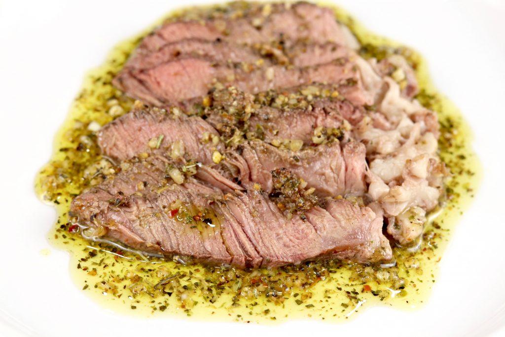 Steak with Salmoriglio Sauce