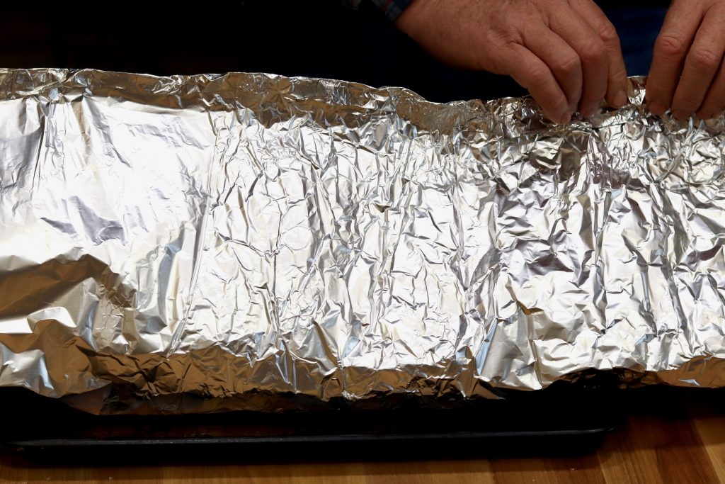 how to make a foil packet for smoked brisket