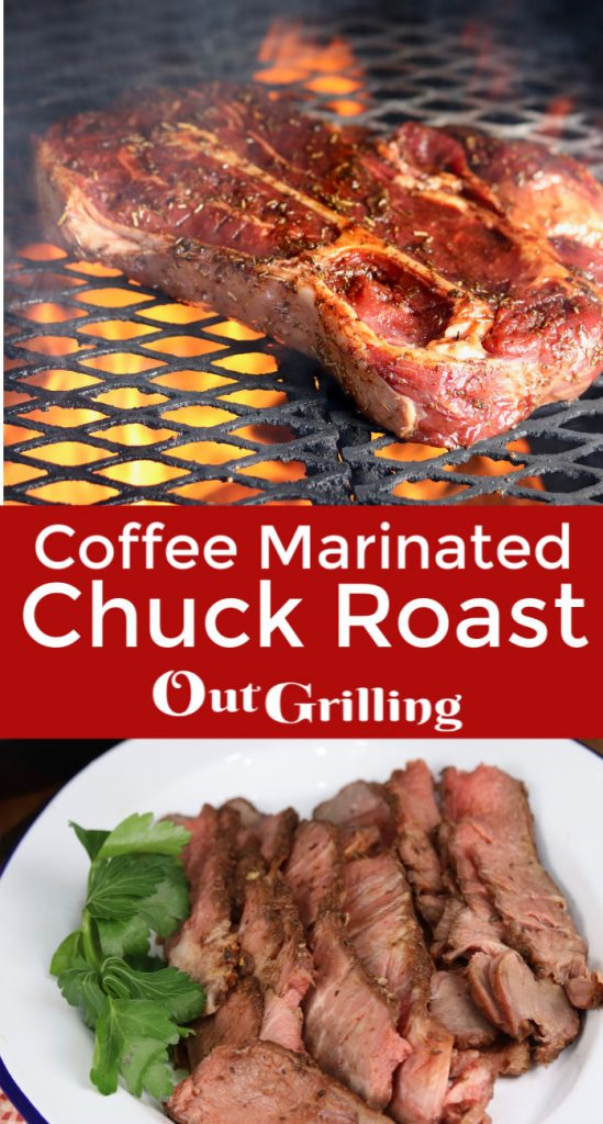 Coffee Marinated Chuck Roast is a well seasoned and tasty dinner to try on the grill. A quick marinade with strong brewed coffee, garlic and spices adds just the right flavor to grilled beef.