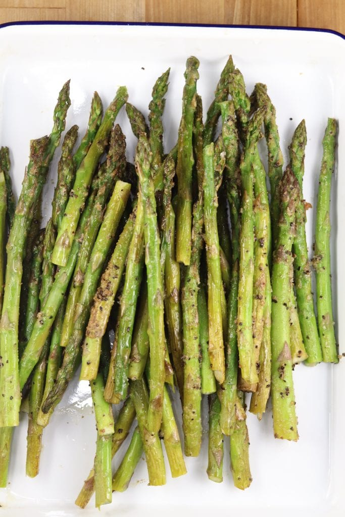Asparagus - grilled with garlic butter