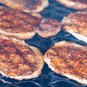 Grilled Blackened Pork Chops