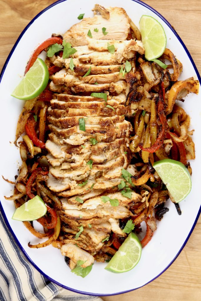 Grilled Chicken Fajitas Platter