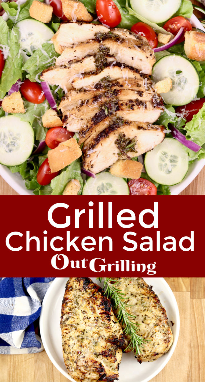 Grilled Chicken Salad with Rosemary Vinaigrette