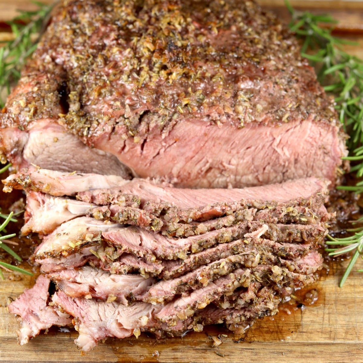 Herb Crusted Roast - sliced
