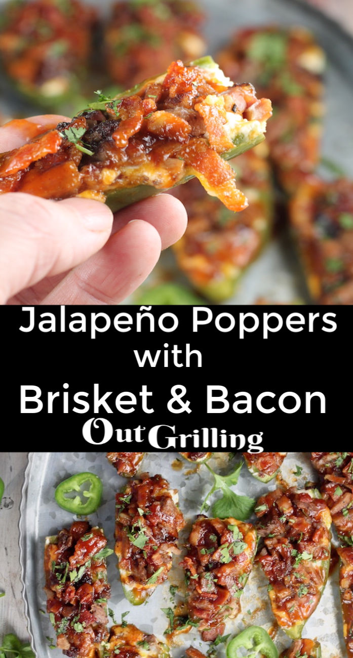 Brisket and Bacon Jalapeno Poppers