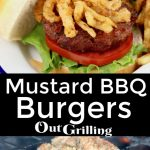 Grilled Mustard BBQ Burgers collage