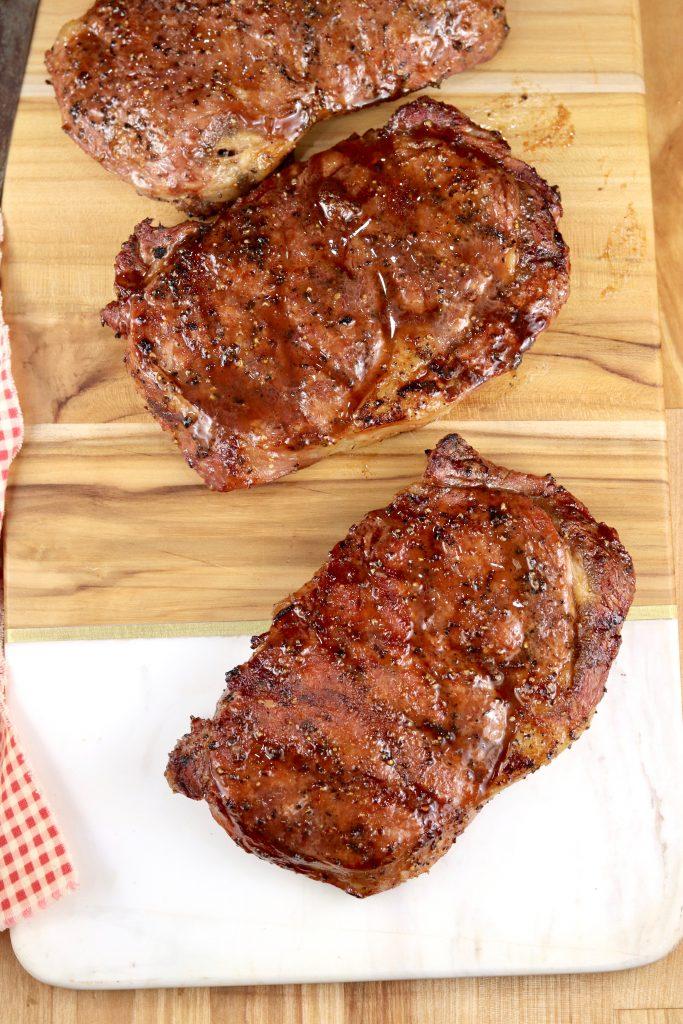 Grilled Steaks with brown sugar rub