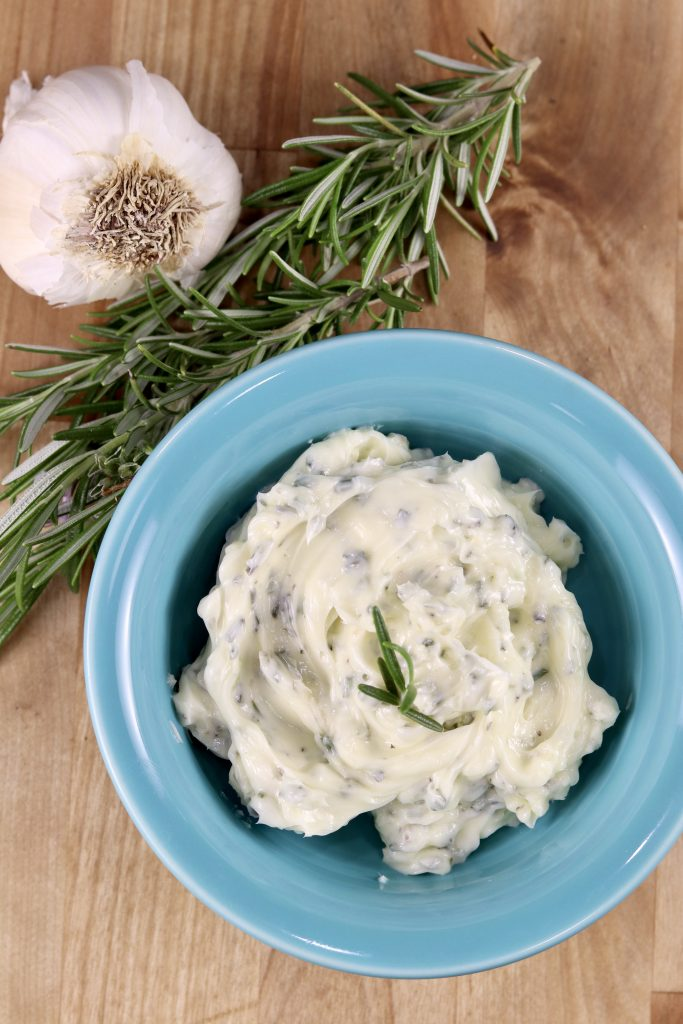 Garlic Herb Butter for grilled steaks