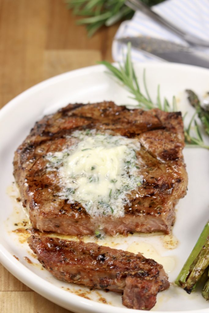 Grilled Garlic Butter Steaks