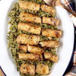 Grilled Cod with Garlic Glaze