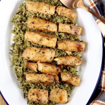 Grilled Cod with Garlic Glaze