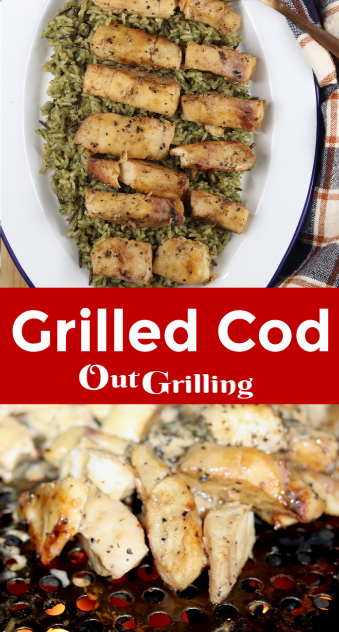 Grilled Cod collage