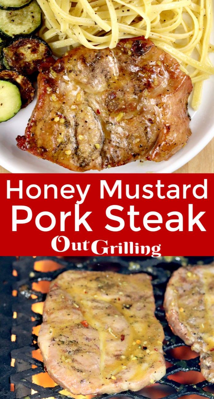 Honey Mustard Pork Steaks Grilling recipe