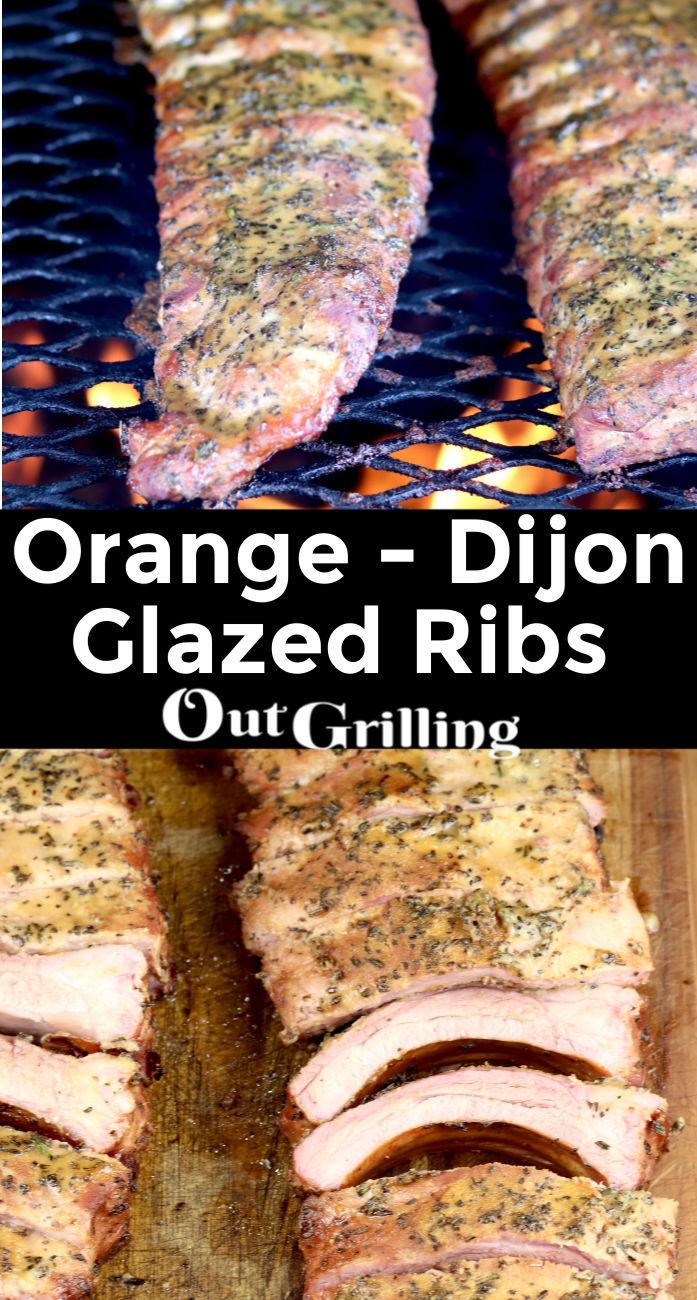Orange Dijon Glazed Ribs