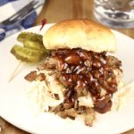 Smoked Pork Shoulder BBQ Sandwich