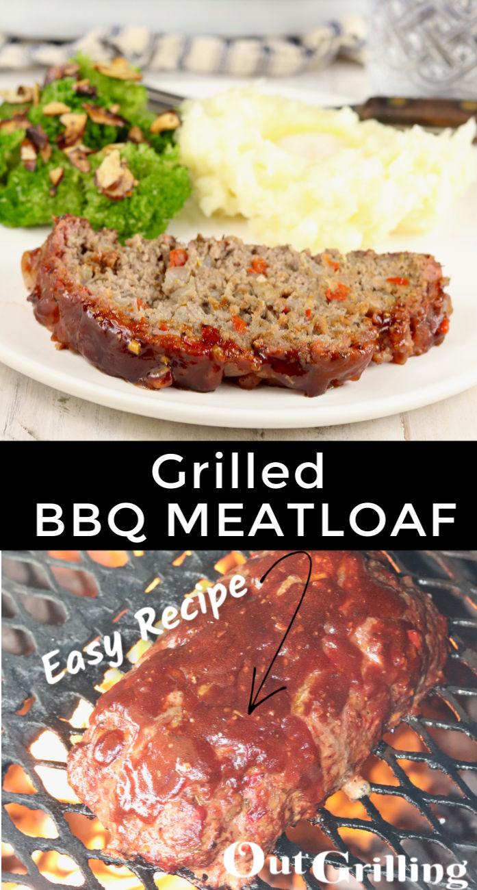 Grilled BBQ Meatloaf collage