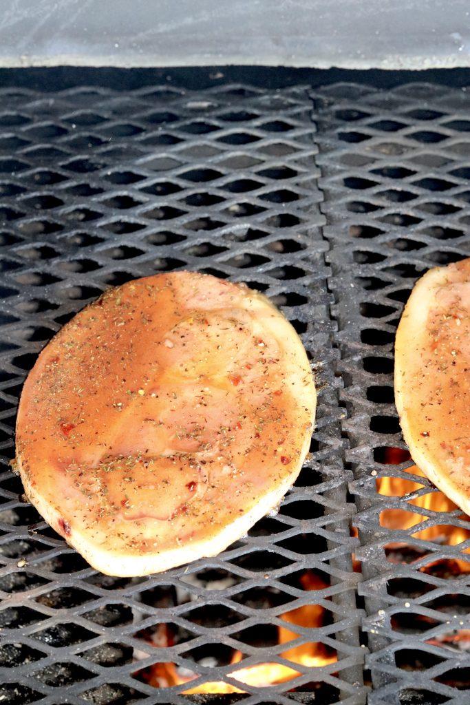Grilling ham steaks