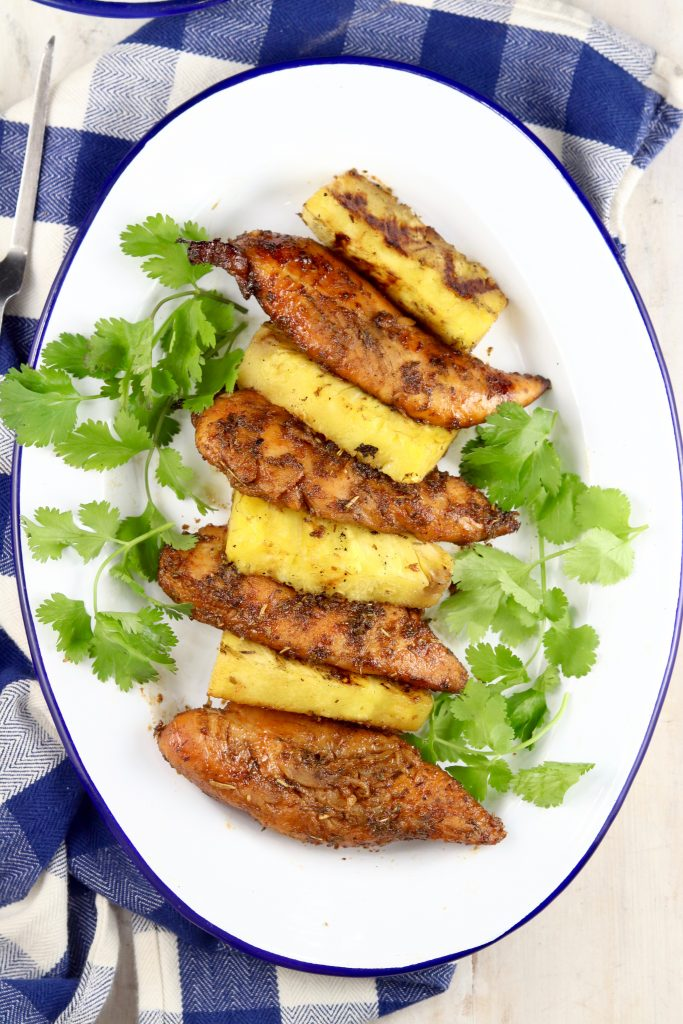 Grilled Marinated Chicken with Pineapple