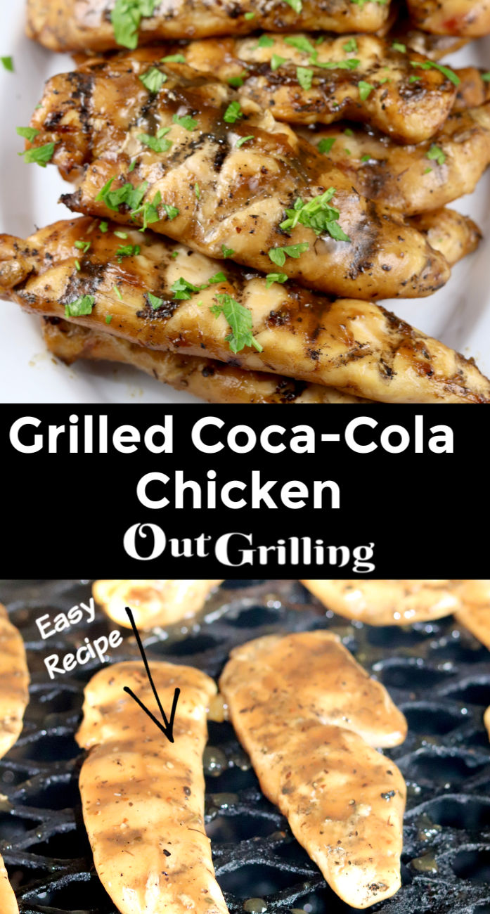 Grilled Coca-Cola Chicken Tenders collage