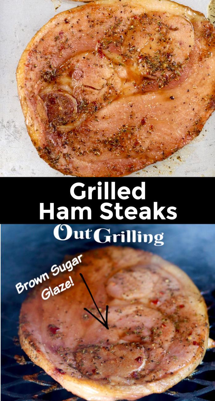 Grilled Ham Steaks Collage