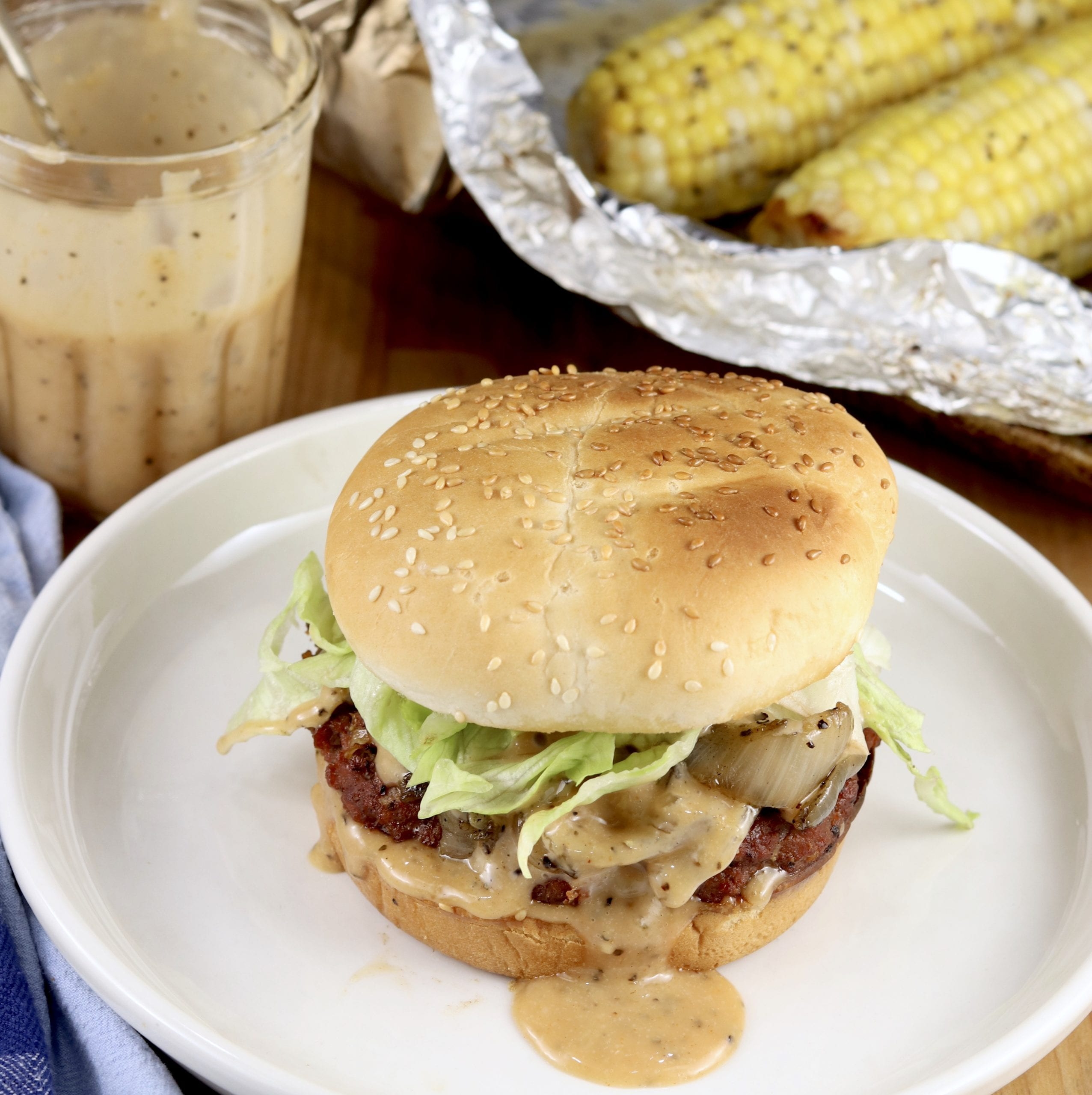 Grilled Onion Burgers