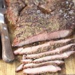Grilled Italian Roast Beef - sliced
