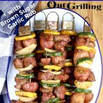 Grilled Steak Kabobs with text overlay