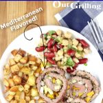 Grilled Steak Pinwheels with text overlay