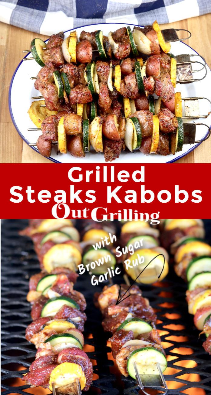 Grilled Steak Kabobs Collage