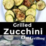 Grilled Zucchini - collage