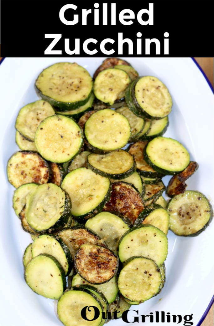 Grilled Zucchini with text overlay