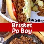 Brisket Po Boy Sandwich