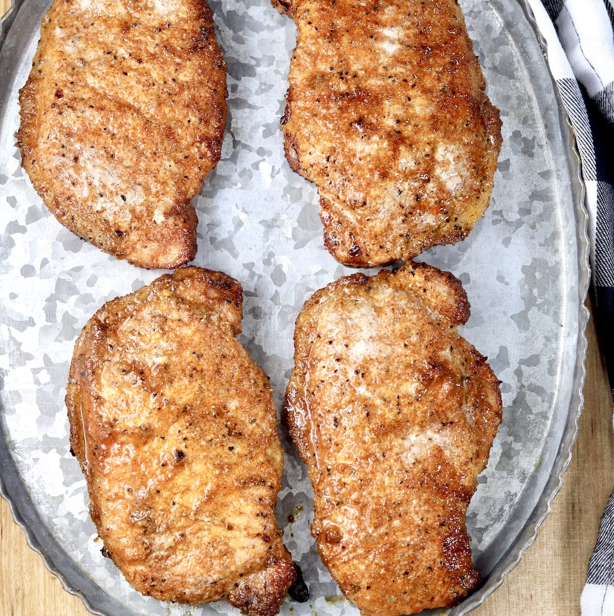 Brown Sugar Pork Chops on a platter