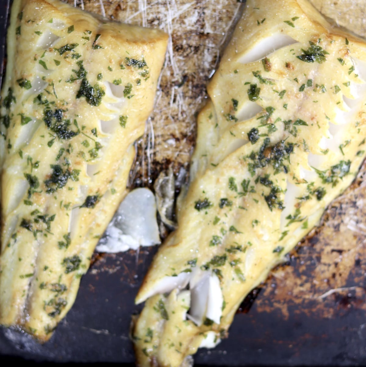 Grilled Sablefish with garlic butter