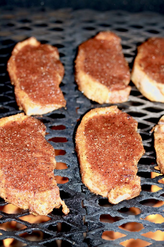 Dry Rubbed Pork Chops on the Grill