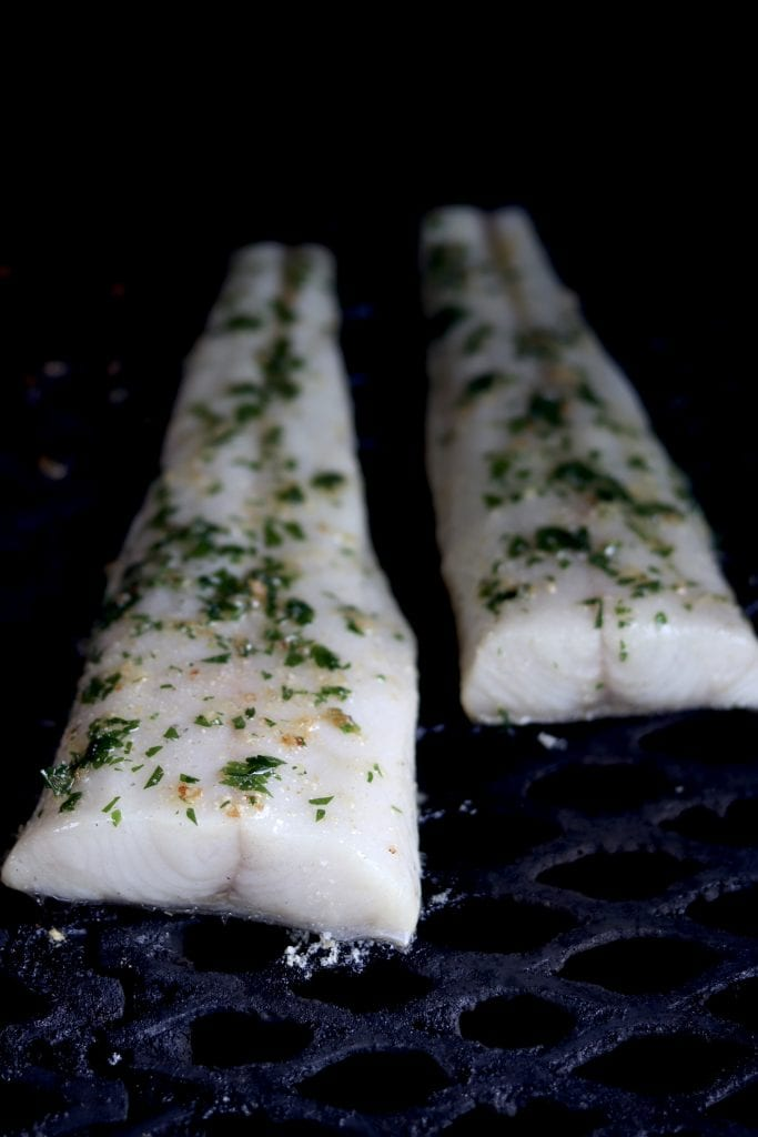 Garlic butter grilled black cod or sablefish