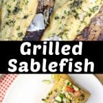 Grilled Sablefish collage