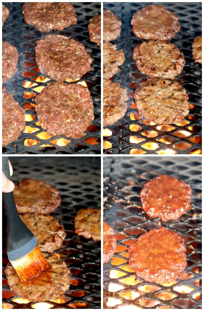 How to grill burgers with bbq sauce