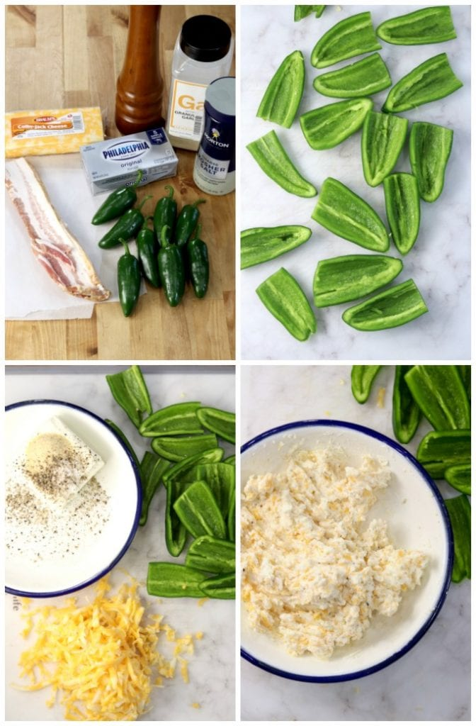 Jalapeno Poppers step by step to stuffing
