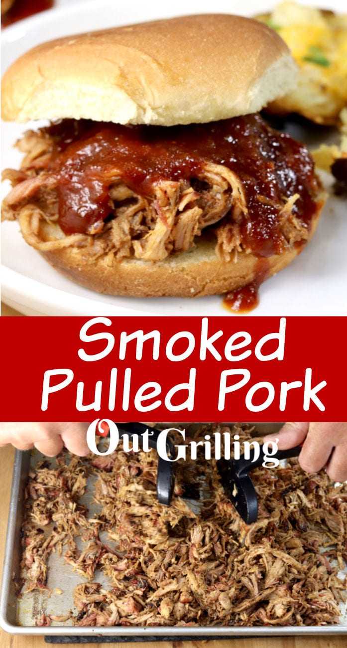 Smoked Pulled Pork Sandwiches collage