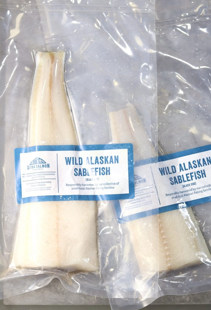 wild caught sablefish from Sitka Salmon Shares