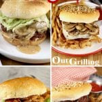 Best Grilled Burgers collage of 4 with text overlay