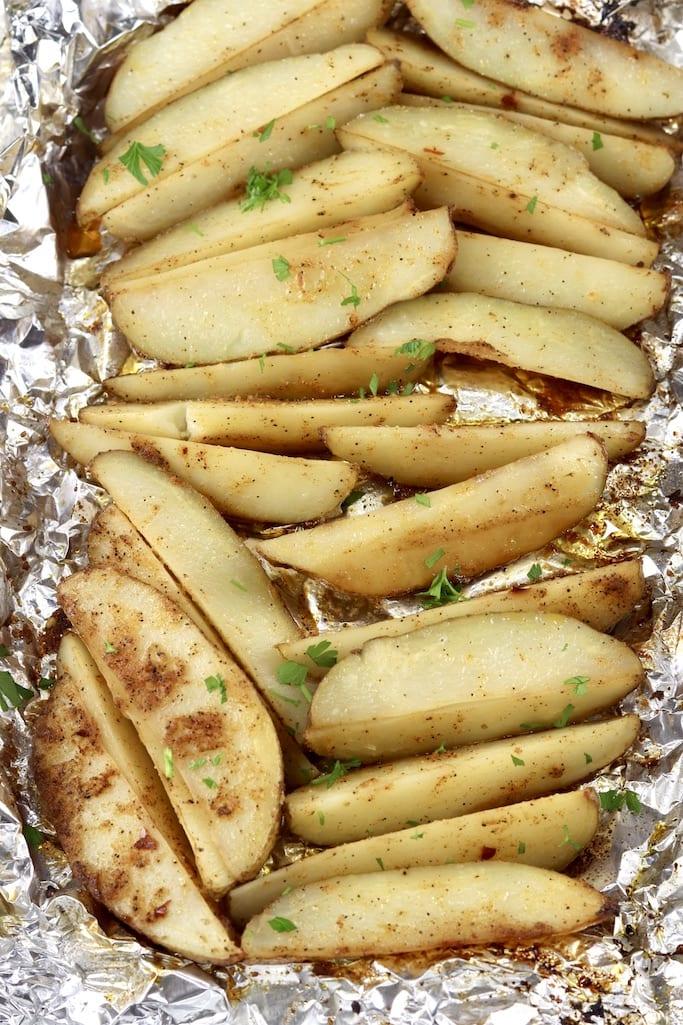 Foil packet potato wedges