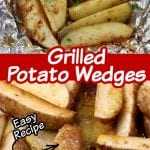 Foil Packet Potato -collage with text overlay